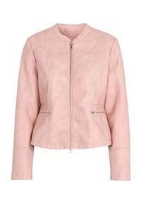 Różowa kurtka Cellbes elegancka, z okrągłym kołnierzem