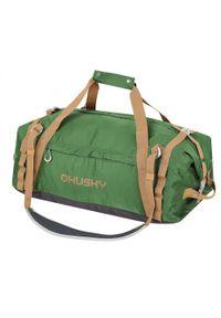 Zielona torba sportowa Husky w paski