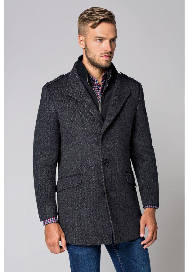 Szary płaszcz Lancerto na zimę, krótki