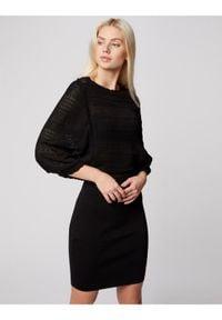 Morgan Sukienka codzienna 211-RMGIGI Czarny Slim Fit. Okazja: na co dzień. Kolor: czarny. Typ sukienki: proste. Styl: casual