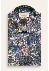 Niebieska koszula Tailored & Originals na co dzień, w kwiaty
