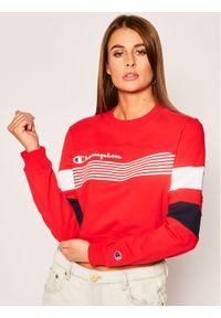 Champion Bluza Graphic Stripe And Colour Block Cropped 112761 Czerwony Regular Fit. Kolor: czerwony