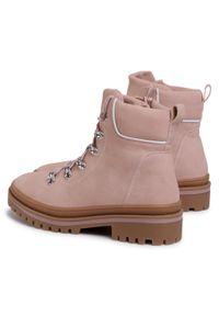 Różowe buty trekkingowe Jenny Fairy z cholewką