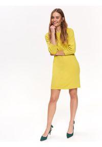 Żółta sukienka TOP SECRET na co dzień, na jesień