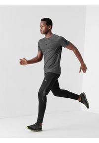 4f - Spodnie treningowe szybkoschnące męskie. Kolor: czarny. Materiał: włókno, dzianina, materiał. Wzór: gładki. Sport: fitness