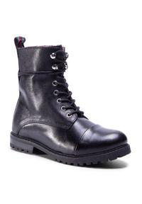 Czarne buty zimowe Sergio Bardi Young na spacer, z cholewką