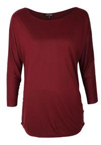 Czerwony t-shirt TOP SECRET na co dzień, z długim rękawem, długi, casualowy
