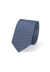 Lancerto - Krawat Granatowy w Mikrowzór. Kolor: niebieski. Materiał: tkanina, mikrofibra. Styl: klasyczny