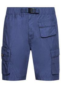 Superdry Szorty materiałowe Ult Cargo M7110210A Granatowy Regular Fit. Kolor: niebieski. Materiał: materiał #5