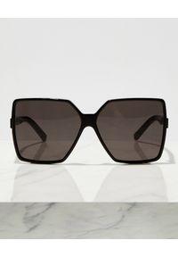 SAINT LAURENT - Czarne okulary przeciwsłoneczne Betty. Kolor: czarny
