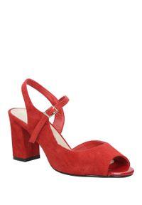 Czerwone sandały Sergio Leone na co dzień, casualowe