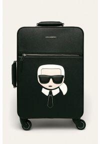 Karl Lagerfeld - Walizka. Kolor: czarny. Wzór: aplikacja
