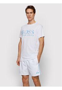 BOSS - Boss T-Shirt Rn 50407774 Biały Regular Fit. Kolor: biały