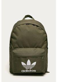 Zielony plecak adidas Originals z nadrukiem