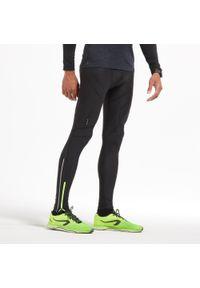 KIPRUN - Legginsy do biegania męskie Kiprun. Kolor: czarny. Materiał: materiał