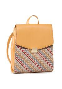 Żółty plecak Nobo klasyczny, w kolorowe wzory