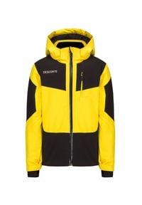 Descente - Kurtka narciarska DESCENTE BECKETT JUNIOR. Kolor: żółty. Materiał: syntetyk, tkanina, mikrofibra