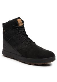 Czarne buty zimowe Jack Wolfskin z cholewką