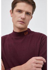 GAP - Bluza bawełniana. Okazja: na co dzień. Kolor: czerwony. Materiał: bawełna. Wzór: gładki. Styl: casual