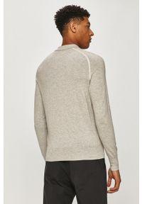 AllSaints - Sweter. Kolor: szary. Materiał: dzianina. Długość rękawa: długi rękaw. Długość: krótkie
