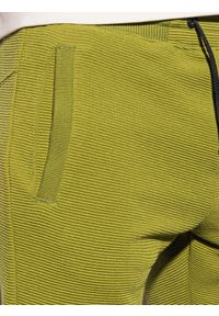 Ombre Clothing - Krótkie spodenki męskie dresowe W294 - oliwkowe - XXL. Kolor: szary. Materiał: dresówka. Długość: krótkie. Styl: sportowy, klasyczny #3