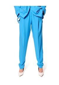 AGGI - Niebieskie spodnie Blake. Kolor: niebieski. Materiał: materiał. Styl: elegancki