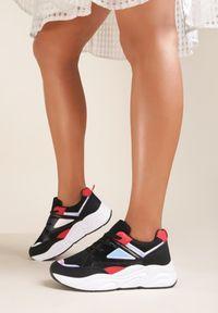 Renee - Czarne Sneakersy Alethrite. Kolor: czarny
