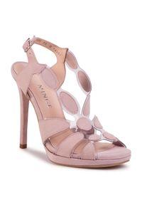 Różowe sandały Eva Minge eleganckie