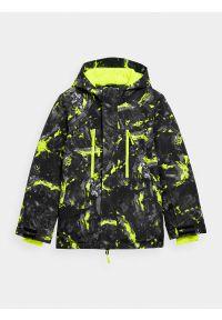 4f - Kurtka narciarska membrana 5 000 chłopięca. Kolor: zielony. Materiał: materiał, poliester. Sezon: zima. Sport: narciarstwo