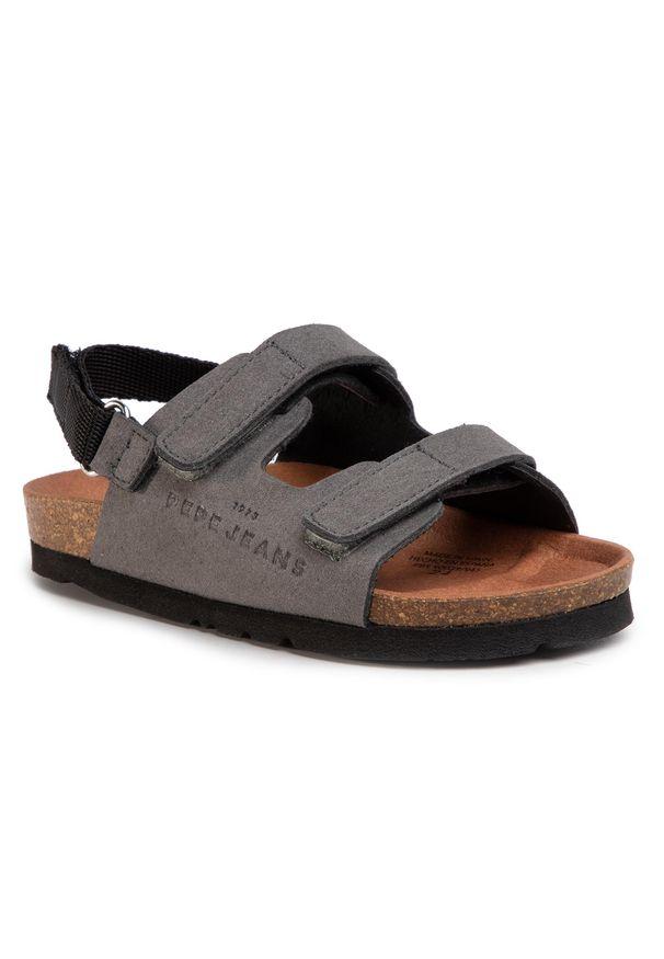 Szare sandały Pepe Jeans na lato