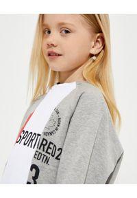 DSQUARED2 KIDS - Szara bluza z kolorowym nadrukiem 4-16 lat. Kolor: szary. Materiał: bawełna. Długość rękawa: długi rękaw. Długość: długie. Wzór: nadruk, kolorowy. Sezon: lato