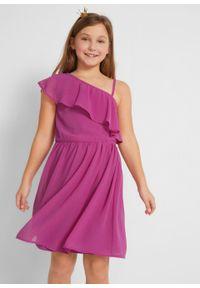 Fioletowa sukienka bonprix