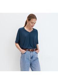 Mohito - Koszulka oversize - Turkusowy. Kolor: turkusowy