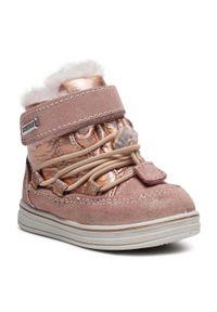 Różowe buty zimowe Sergio Bardi Young z cholewką