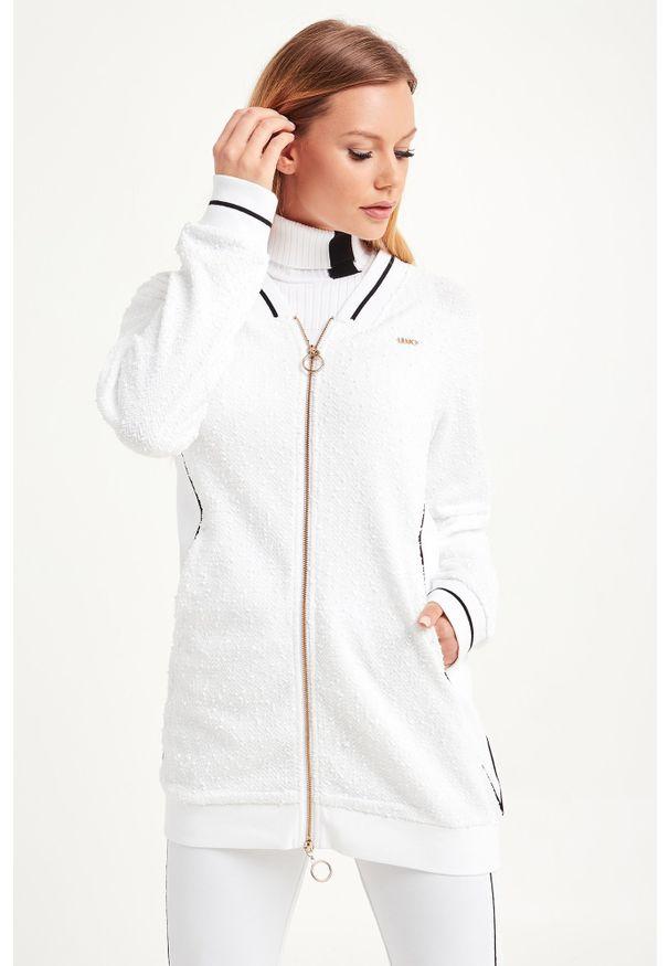 Bluza Liu Jo Sport z dekoltem w kształcie v, długa, w kolorowe wzory, sportowa