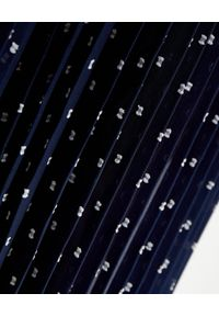 SELF PORTRAIT - Plisowany kombinezon. Kolor: niebieski. Wzór: kropki. Styl: wizytowy, klasyczny, elegancki #5