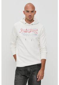 Premium by Jack&Jones - Bluza. Okazja: na co dzień. Kolor: biały. Materiał: dzianina. Wzór: nadruk. Styl: casual
