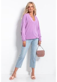 Fioletowy sweter oversize Fobya