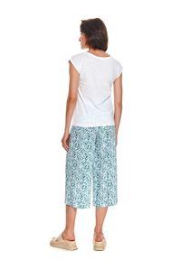 TOP SECRET - T-shirt damski z krótkim rękawem i morskim nadrukiem. Kolor: biały. Długość rękawa: krótki rękaw. Długość: krótkie. Wzór: nadruk