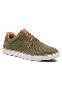 Sneakersy GOE - HH1N4034 Khaki/Brown. Okazja: na spacer, na co dzień. Kolor: zielony. Materiał: skóra, zamsz. Szerokość cholewki: normalna. Styl: klasyczny, sportowy, casual