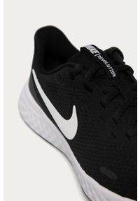 Czarne buty sportowe Nike Kids z okrągłym noskiem, Nike Revolution