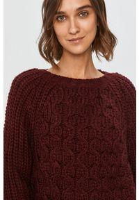 Fioletowy sweter Answear Lab wakacyjny, długi