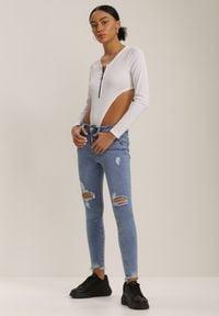 Renee - Niebieskie Jeansy Skinny Isithea. Kolor: niebieski