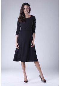 Czarna sukienka wizytowa Nommo wizytowa
