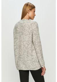 Szary sweter rozpinany Vero Moda długi, z długim rękawem