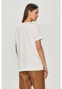 Biała bluzka only na co dzień, casualowa, z nadrukiem