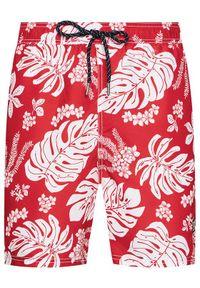 Superdry Szorty kąpielowe Campus Hawaiian M3010120A Czerwony Regular Fit. Kolor: czerwony #4
