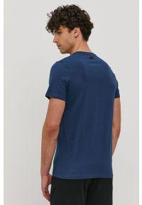 4f - 4F - T-shirt. Okazja: na co dzień. Kolor: niebieski. Materiał: dzianina. Wzór: nadruk. Styl: casual