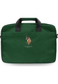 "U.S. Polo Assn - Torba U.S. Polo ASSN US Polo Torba USCB15PUGFLGN 15"" zielona/green. Kolor: zielony"