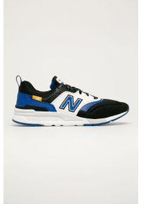 Czarne sneakersy New Balance z cholewką, na sznurówki, z okrągłym noskiem